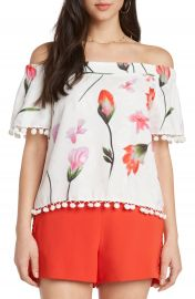 Willow  amp  Clay Jacquard Off the Shoulder Top at Nordstrom