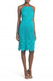 Willow and Clay Appliqu High Neck Midi Dress at Nordstrom
