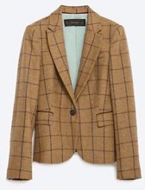 Windowpane Blazer at Zara
