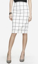 Windowpane Pencil Skirt at Express