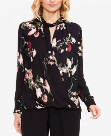 Windswept Bouquet Printed Wrap Top by Vince Camuto at Macys