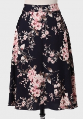 Winter Blossom Printed Skirt at Ruche
