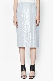 Winter Mist Sequin Pencil Skirt at French Connection