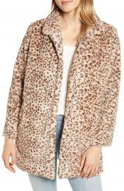 Wit  amp  Wisdom Faux Leopard Fur Coat  Nordstrom Exclusive at Nordstrom