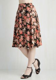With Books to Match Skirt in Garden at ModCloth