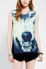 Wolf Face tee by LIFE at Urban Outfitters