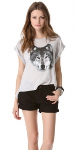 Wolf tee by Wildfox at Shopbop