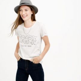 Women s J Crew For David Sheldrick Wildlife Trust Save More Elephants T-Shirt at J. Crew