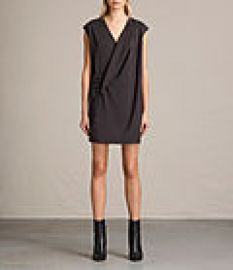 Womens Aures Dress  ANTHRACITE GREY at All Saints