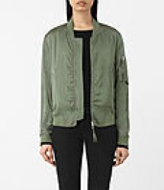 Womens Kuma Bomber Jacket  Smoke at All Saints