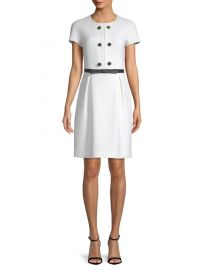 Wool Button Shift Dress Michael Kors Collection at Saks Fifth Avenue