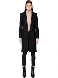 Wool Coat with Satin Lapels by Pierre Balmain at Luisa Via Roma