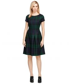 Wool Plaid Dress at Brooks Brothers