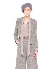 Wool Stretch Tweed Jacket at Akris
