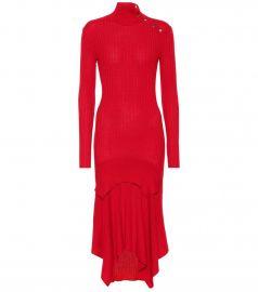 Wool and silk-blend dress at Mytheresa
