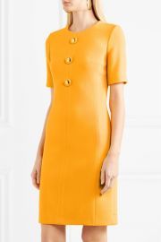 Wool-blend crepe dress by Michael Kors at Net A Porter