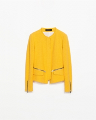 Woven fabric jacket at Zara