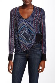 Wrap Front Silk Blouse at Nordstrom Rack
