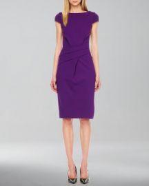Wrap-Waist Ponte Dress at Neiman Marcus