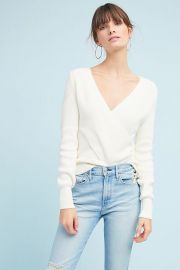 Wrapped V-neck Sweater at Anthropologie