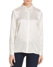 Wren Embellished Collar Silk Blouse by Elie Tahari at Bloomingdales