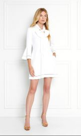 Wynn Pussy-Bow Stretch-Crepe Mini Dress at Rachel Zoe
