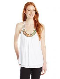 XOXO Womenand39s Embellished Neckline Top at Amazon