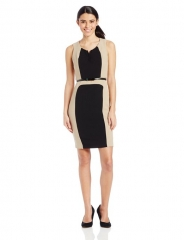 XOXO Women's Houston Colorblocked Sheath Dress at Amazon