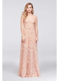 Xscape 3D Floral Applique Lace A-Line Gown at Davids Bridal