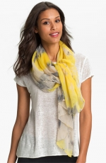 Yellow and grey scarf at Nordstrom