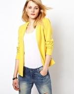 Yellow blazer by Vila at Asos
