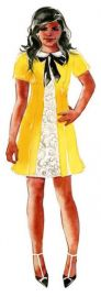 Yellow collared dress at Salvador Perez