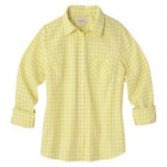 Yellow gingham shirt at Target