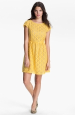 Yellow lace dress by Kensie at Nordstrom