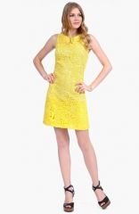Yellow lace dress by Phoebe Couture at Nordstrom