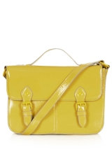 Yellow satchel at Topshop