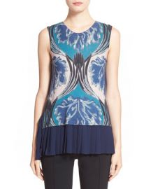 Yigal Azroul Pleated Back Knit Top at Nordstrom