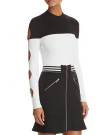 Yigal x AQUA Cutout Color-Block Sweater - 100  Exclusive at Bloomingdales