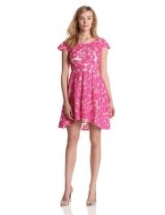 Yoana Baraschi pink lace dress at Amazon