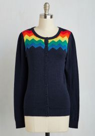 You Heard That Bright Cardigan in Rainbow x at ModCloth