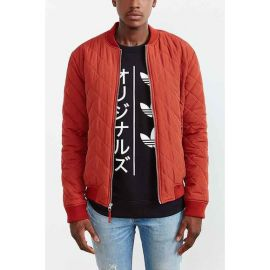 Wornontv Barry S Red Quilted Bomber Jacket On The Flash