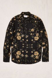 Your Neighbors Ornate Floral Button-Down Shirt in Black at Urban Outfitters