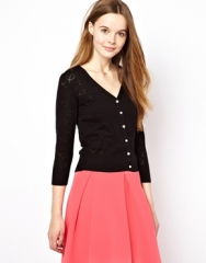 Yumi  Yumi Bow Pointelle Cardigan at Asos