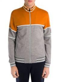 Z Zegna - Techmerino Wool Colorblock Zip Jacket at Saks Fifth Avenue