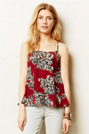 Zaballa Tank in red at Anthropologie