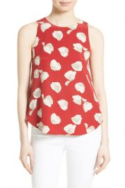 Zabetha Harper Print Silk Top by Theory at Nordstrom Rack