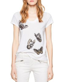 Zadig  amp  Voltaire Tiny Cannetille Butterfly Tee at Bloomingdales