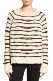 Zadig   Voltaire Kary Open Knit Stripe Sweater at Nordstrom