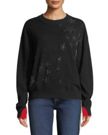 Zadig  amp  Voltaire Gaby Cashmere Embellished Star Pullover Sweater at Neiman Marcus