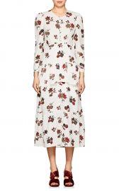 Zandra Floral Silk Crepe Dress at Barneys